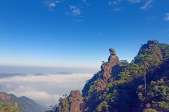 Goddess Peak-Mount Sanqingshan. The Goddess Peak is located in the world natural heritage - Jiangxi Shangrao province Qing Garden East Shannan, Mount Sanqingshan Royalty Free Stock Photography