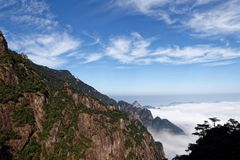 Seas of clouds-Mount Sanqingshan. The Goddess Peak is located in the world natural heritage - Jiangxi Shangrao province Qing Garden East Shannan, Mount Stock Images