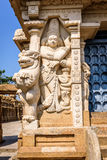 Goddess sculpture in ancient Hindu temple Stock Photo