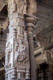 Goddess sculptures in ancient Hindu temple of the Pallavas, Kanchipuram India Stock Photography