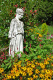 Goddess statue in garden Stock Photos