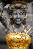 Goddess statue in Hindu temple Stock Photo