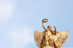 Goddess statue in the sky. Stock Photos
