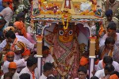 Goddess Subhadra at Rathyatra-2015, Ahmedabad Stock Image