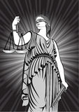 Goddess Themis.Equality .justice. court.Law. Royalty Free Stock Photography