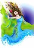 Goddess royalty free illustration