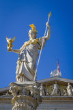 The Goddess of Wisdom. The Athena Fountain (Pallas-Athene-Brunnen) in front of the Parliament was erected between 1893 and 1902 by Carl Kundmann, Josef stock photography