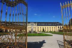 Goden door of a castle Royalty Free Stock Image
