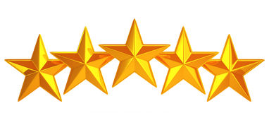 Goden five stars Stock Photo