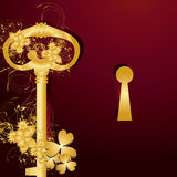 Goden key for your success Stock Photo