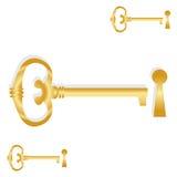 goden klucz Obrazy Stock