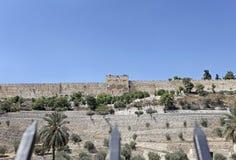 Goden port i Jerusalem israel Arkivbilder