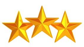 Goden three stars Stock Photo