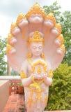 Godenbeeld met Naga Royalty-vrije Stock Fotografie