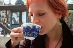 Godere del caffè 2 fotografia stock
