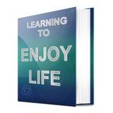 Godere del concetto di vita. royalty illustrazione gratis