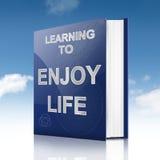 Godere del concetto di vita. illustrazione di stock