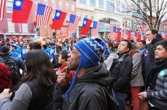 Godere del festival cinese dei nuovi anni Fotografie Stock