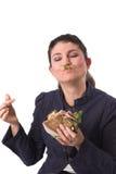 Godere del mio panino fotografie stock libere da diritti
