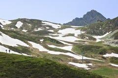 Godere del panorama sopra il Sommerbergalm, l'Austria Fotografia Stock