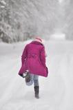 Godere dell'inverno Fotografia Stock