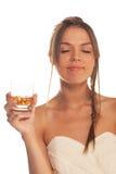 Godere della bevanda Fotografia Stock