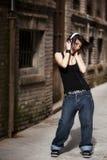 Godere della musica Fotografia Stock