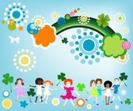 Godere della primavera illustrazione di stock