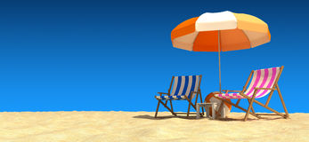 Godere della spiaggia illustrazione di stock
