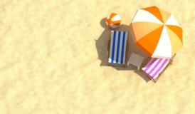 Godere della spiaggia Fotografia Stock