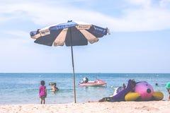 Godere della vacanza estiva Immagini Stock