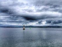 Godere della vista del fiume Clyde immagini stock