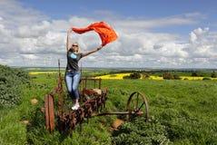 Godere della vita rurale nell'entroterra Australia Fotografia Stock Libera da Diritti