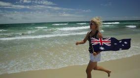 Godere delle spiagge di Perth stock footage