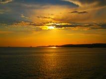 Godere di un tramonto meraviglioso fotografia stock libera da diritti