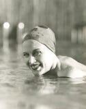 Godere di una nuotata fotografia stock