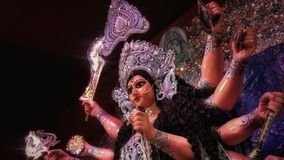 Godess durga. At durga puja kolkata,india Royalty Free Stock Photos