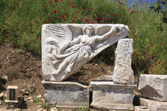 Godess Nike in Ephesus, Izmir, Turkey Stock Image
