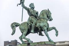 Godfrey av buljong i Bryssel, Belgien Arkivfoto