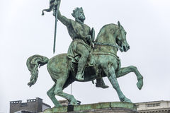 Godfrey of Bouillon in Brussels, Belgium Stock Photo