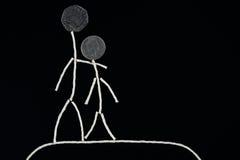 Godimento all'aperto di tempo di qualità, giovane coppia felice che spende tempo all'aperto, concetto insolito illustrazione vettoriale