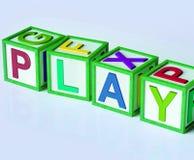 Godimento e giochi di divertimento di manifestazione dei blocchetti del gioco illustrazione vettoriale