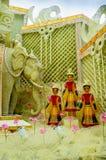 Godin Durga, kunstwerk en decoratie, Festival Royalty-vrije Stock Afbeeldingen