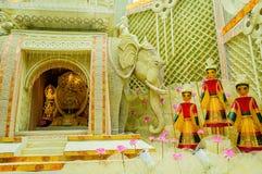 Godin Durga, kunstwerk en decoratie, Festival Royalty-vrije Stock Foto