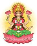 Godin Lakshmi - brengt rijkdom en welvaart stock illustratie