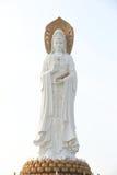 Godin van genadestandbeeld bij kust in nanshan tempel, hainan eiland Royalty-vrije Stock Afbeeldingen