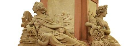 Godin van het Standbeeld van Minerva op de Oude Brug Stock Foto