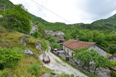 The Godinje village at Montenegro. The buildings in the Godinje village at Montenegro Royalty Free Stock Images
