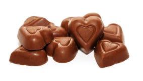 Godis för dag för chokladhjärtavalentin Arkivbild