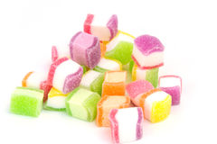 Godis marshmallow med gelatinefterrätten royaltyfri bild